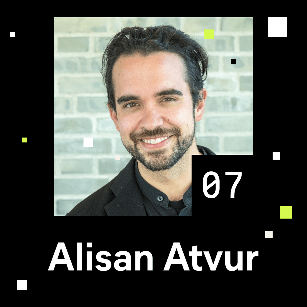 Alisan Atvur portrait photo for episode 7 of the Shaping Chaos podcast.