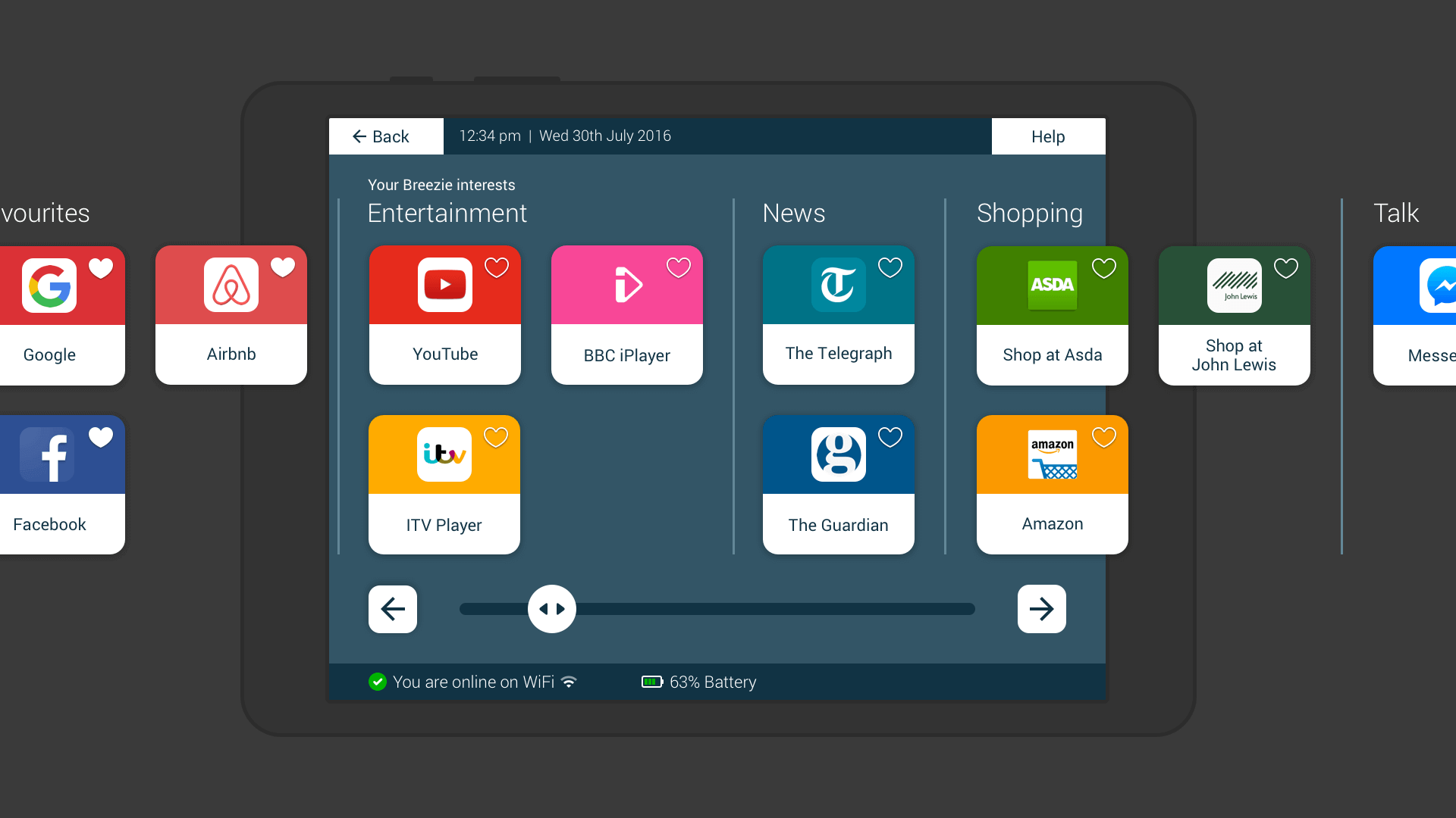 User interface (UI) components that can be found on Breezie's design library.