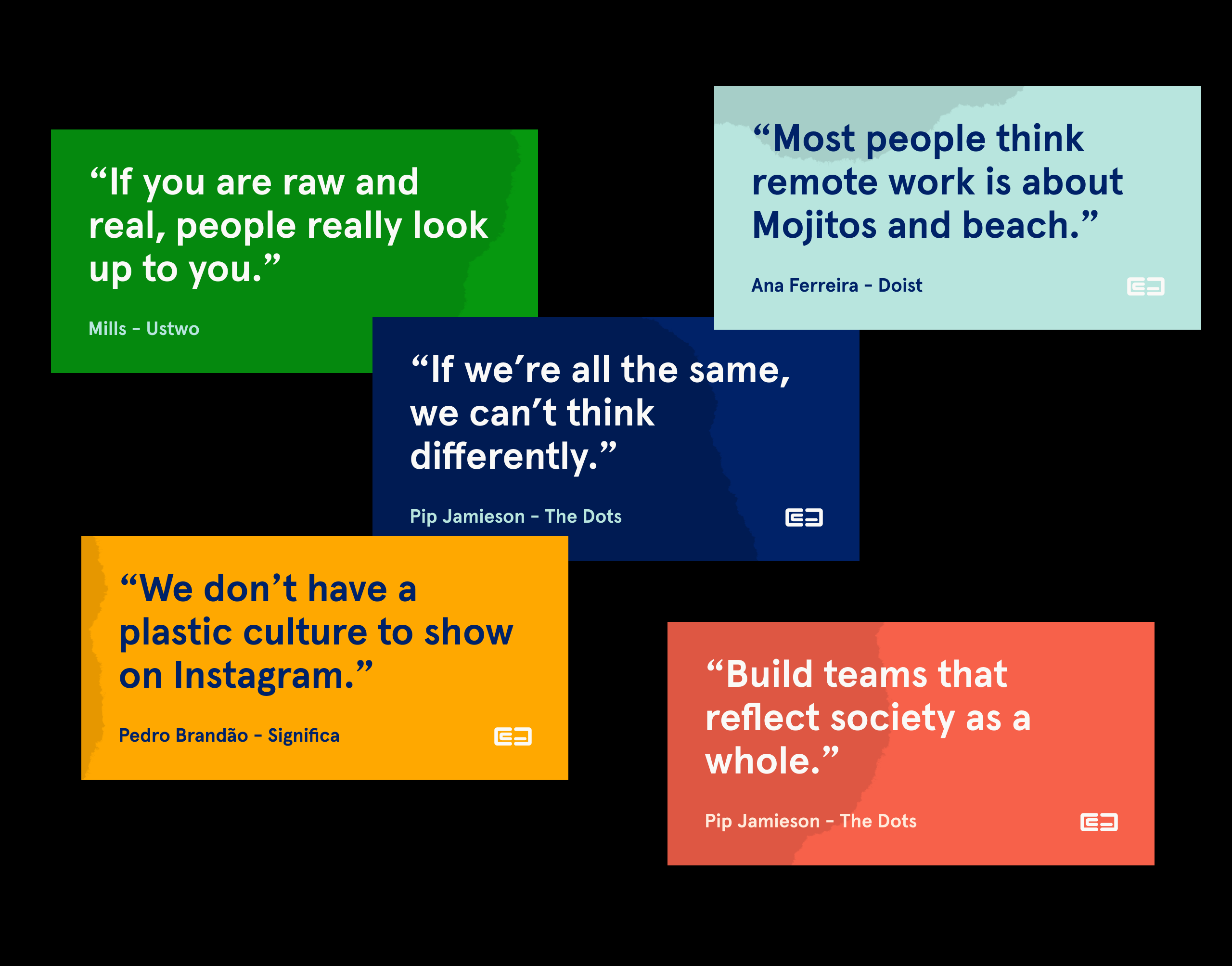 Collection of quotes from the interviews at Captico Talks.