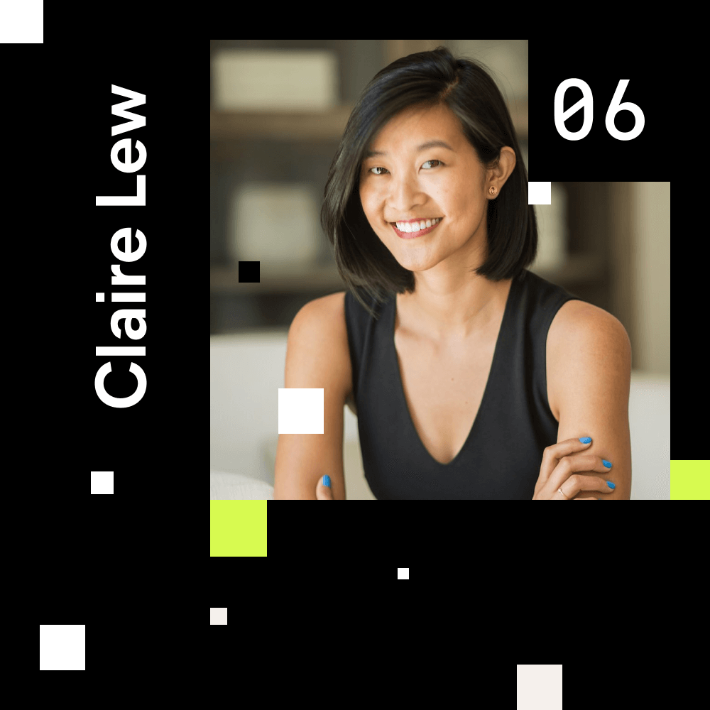 Claire Lew (Know Your Team Founder) portrait photo for episode number 6 of the Shaping Chaos Podcast.