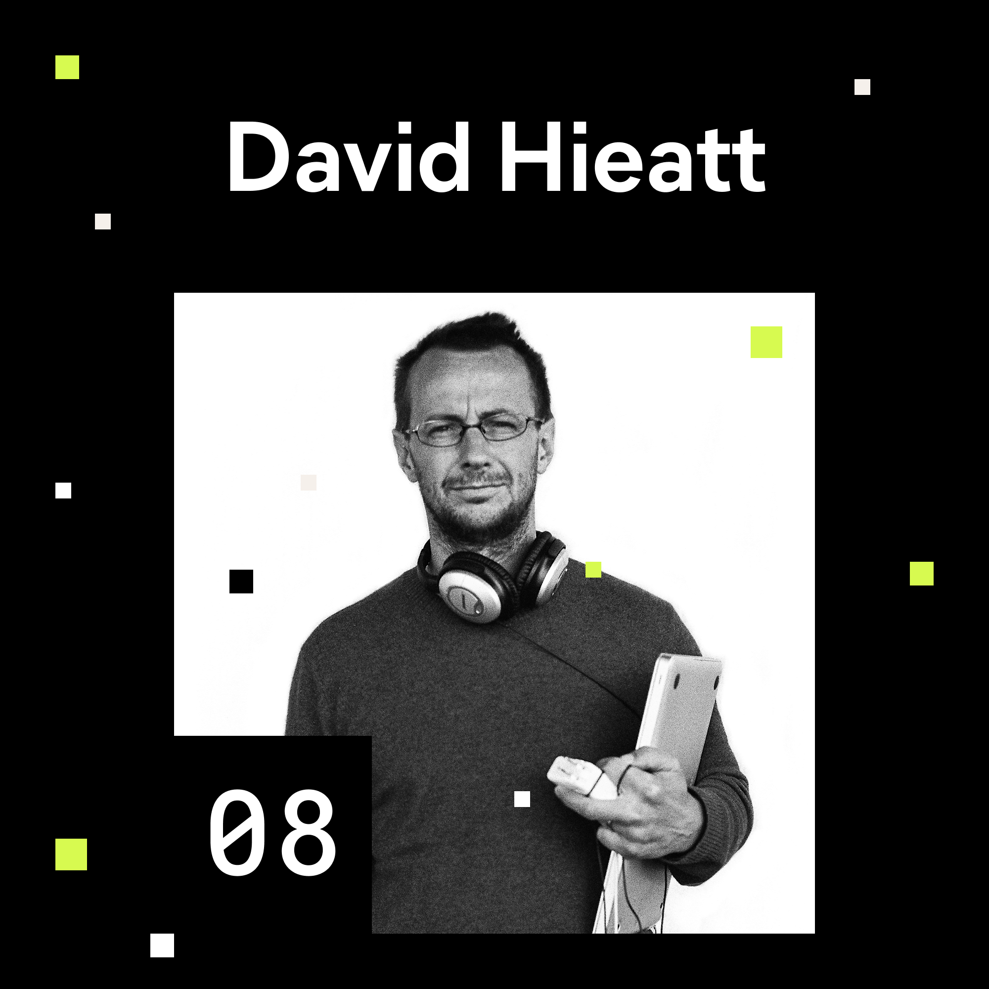 David Hieat portrait for episode 8 of the shaping chaos podcast.