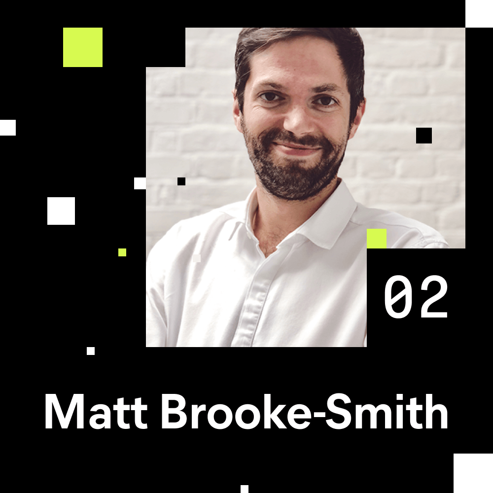 Matt Brooke-Smith (Founder & CEO of Future Workshops) portrait photo for episode number 2 of the Shaping Chaos Podcast.