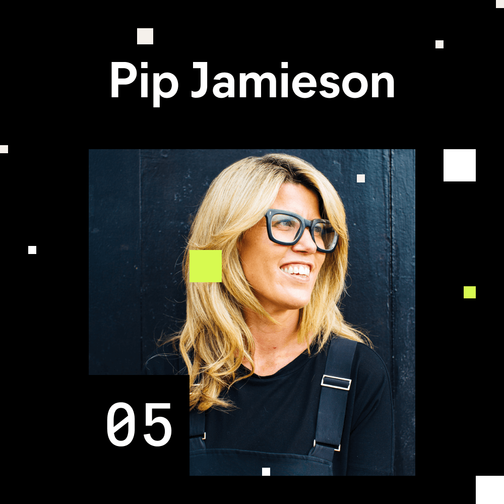 Pip Jamieson (The Dots Founder) portrait photo for episode number 5 of the Shaping Chaos Podcast.